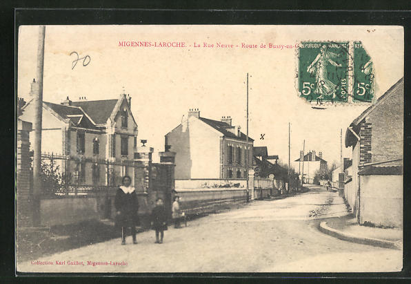 AK Migennes-Laroche, La Rue Neuve, Strassenpartie 0