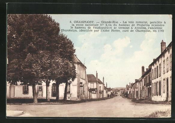 AK Champlost, Grande-Rue, Strassenpartie 0