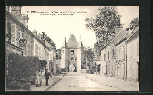 AK Villeneuve-sur-Yonne, Faubourg St-Savinien, Porte de Joigny, vue exterieure 0