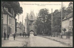AK Villeneuve-sur-Yonne, Faubourg St-Nicolas et Porte de Sens, Vue exterieure