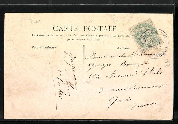 AK Villeneuve-sur-Yonne, L`Hotel-de-Ville 1