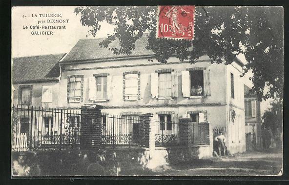 AK Dixmont, La Tuilerie, Le Cafe-Restaurant Galicier 0