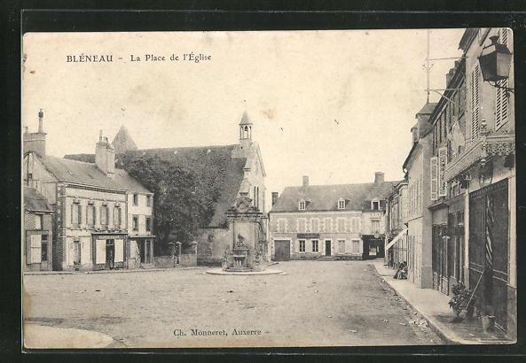 AK Bleneau, La place de l`Eglise 0
