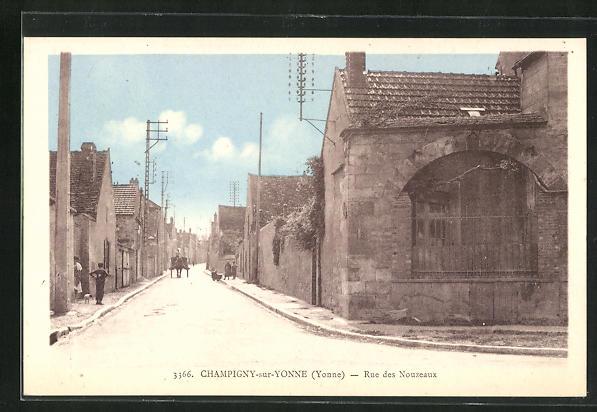 AK Champigny-sur-Yonne, Rue des Nouzeaux 0
