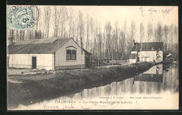 AK Chamvres, Le vieux moulin et le Lavoie 0