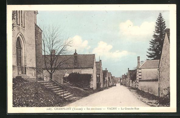 AK Champlost-Vachy, La Grande-Rue 0