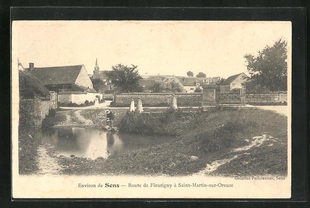 AK Saint-Martin-sur-Oreuze, Route de Fleurigny 0
