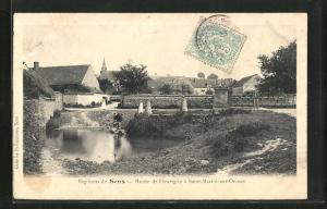 AK Saint-Martin-sur-Oreuze, Route de Fleurigy, Ortspartie
