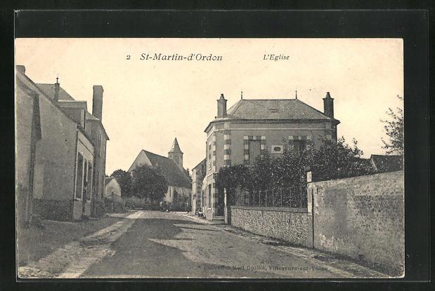 AK St-Martin-d`Ordon, L`Eglise, Strassenpartie 0