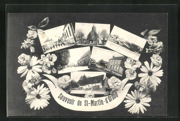 AK St-Martin-d`Ordon, verschiedene Ansichten aus dem Ort 0