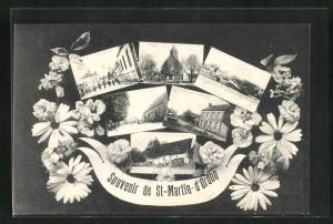 AK St-Martin-d`Ordon, verschiedene Ansichten aus dem Ort