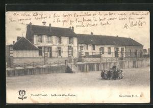 AK Vinneuf, Le Mairie et les Ecoles