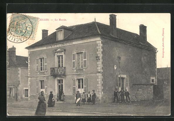 AK Vincelles, La mairie 0