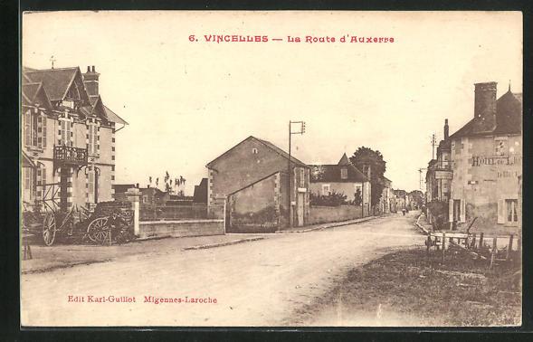 AK Vincelles, La Route d`Auxerre 0