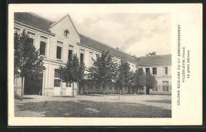 AK Villeblevin, Colonie scolaire du XIIe arrondissement, Le grand batiment