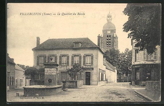 AK Villeblevin, Le Quartier du Bassin 0