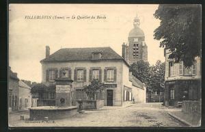 AK Villeblevin, Le Quartier du Bassin