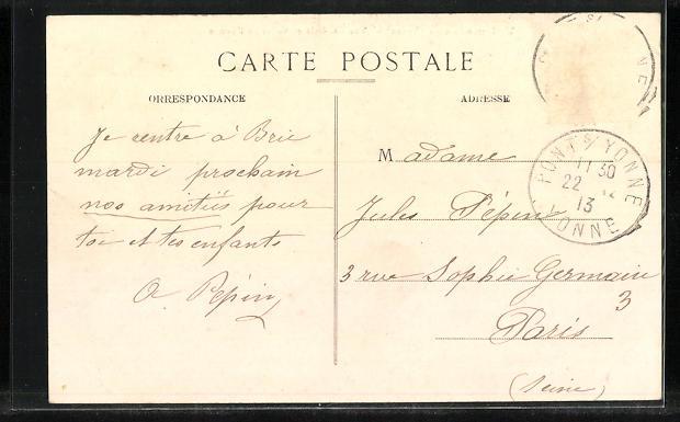 AK Villemanoche, Vue generale et Vallee de l`Yonne 1