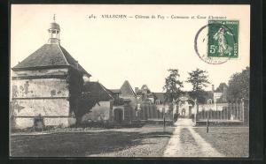 AK Villecien, Chateau de Fey, Commune et Cour d`honneur