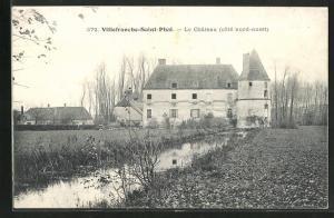 AK Villefranche-Saint-Phal, Le Chateau, côté nord-ouest