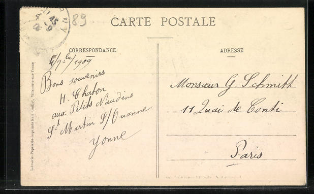 AK St-Martin-sur-Ouanne, Vue generale du Centre du Pays 1