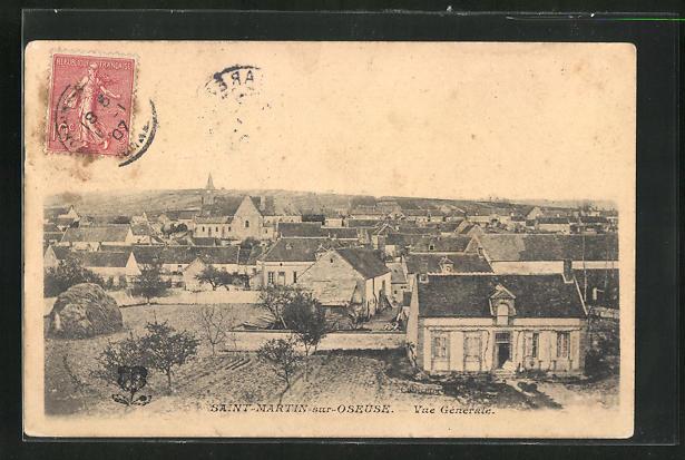 AK Saint-Martin-sur-Oseuse, Vue generale 0
