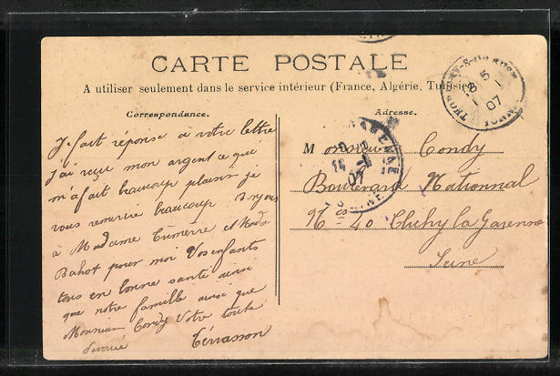 AK Saint-Martin-sur-Oseuse, Vue generale 1