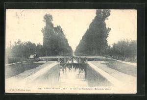 AK Laroche-sur-Yonne, Le Canal de Bourgogne, Ecluse de Cheny