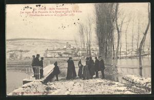 AK Cèzy, Les restes de la Passerelle de la Route de Cèzy à St-Aubin
