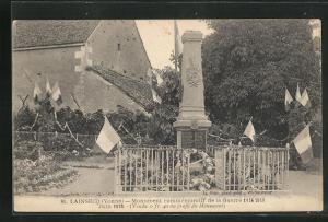 AK Lainsecq, Monument commémoratif de la Guerre 1914-1918