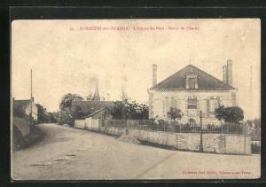 AK Saint-Martin-sur-Ouanne, Route de Charny, Strassenpartie im Ort