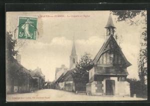 AK Saint-Martin-sur-Ouanne, La Chapelle et l`Eglise