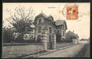 AK Vinneuf, Villa des Violettes, Ansicht von der Strasse her