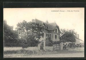 AK Vinneuf, Villa des Violettes, Ansicht vom Garten her