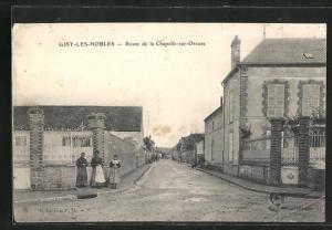 AK Gisy-les-Nobles, Route de la Chapelle-sur-Oreuse