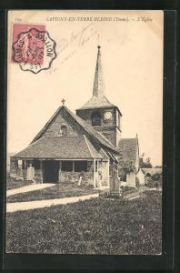 AK Savigny-en-Terre-Pleine, L`Eglise mit Gräbern