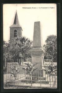 AK Villebougis, Le Monument et l`Eglise