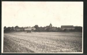 Foto-AK Nudow, Panorama des Ortes