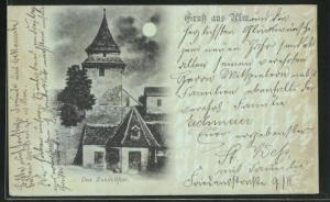 Mondschein-AK Ulm, Das Zundelthor