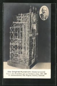 AK Strasburg, die Original-Kunstuhr v. Otto Wegener