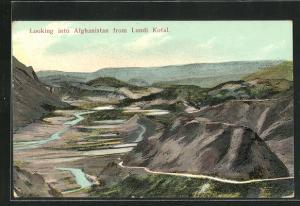 AK Lundi Kotal, Blick auf eine von Hügeln durchzogene Landschaft