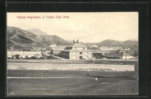 AK S. Vicente, Estacao telegraphica, Teilansicht der Stadt