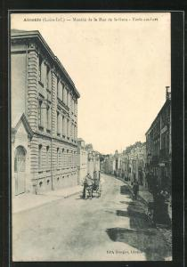 AK Ancenis, Montée de la Rue de la Gare, Ecole Joulbert