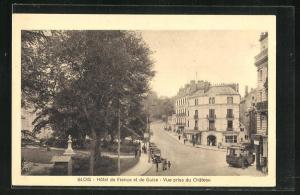 AK Blois, Hotel de France et de Guise, Vue prise du Chateau