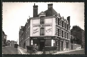 AK Blois, Hotel Rabier, face a la Gare