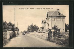AK Pornichet, Avenue de Mazy, vers le Pont