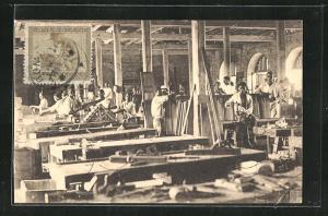 AK Stanleyville, Ecole des Freres Maristes, La Menuiserie