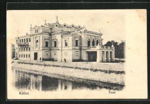 AK Kalisch / Kalisz, Teatr, Blick auf das Theater