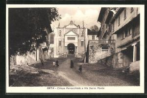 AK Orta, Chiesa Parrocchiale e Via Sacro Monte