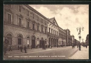 AK Bari, Corso Vittorio Emanuele, Municipio e Teatro Piccinni
